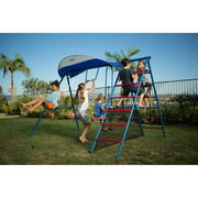 IRONKIDS Inspiration 100 Metal Swing Set with Ladder Climber and UV Protective Sunshade