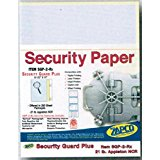 "Laser Print Security Paper (SGP-2-Rx), Blue/Canary 21-lb 2-Part Carbonless, 8.5"" x 11"", 250 SHEETS / PACK, YIELDS 125 SETS"