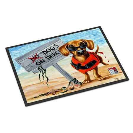 The Dog Beach Dachshund Door Mat ()