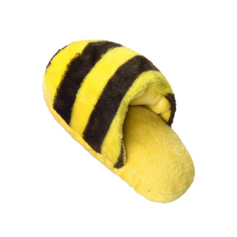Mosunx Dog Toy Pet Puppy Chew Squeaky Squeaker Sound Plush Slipper Shape RD+GN