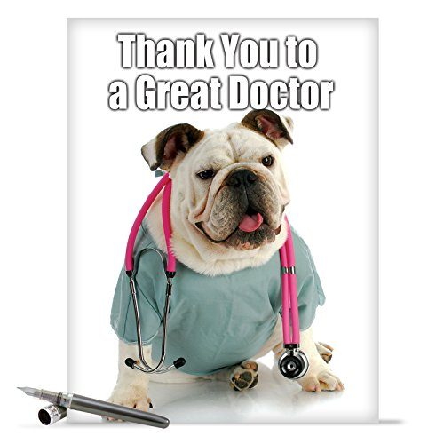 "J9115 Jumbo Hilarious Thank You Card: 'Thank You to a Great Doctor Thank You' with Envelope (Jumbo Size: 8.5"" x 11"")"