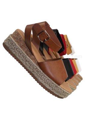 7044694ef Bamboo Womens Sandals - Walmart.com