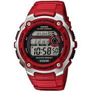 Men's Atomic Sport Watch, Red Resin Strap