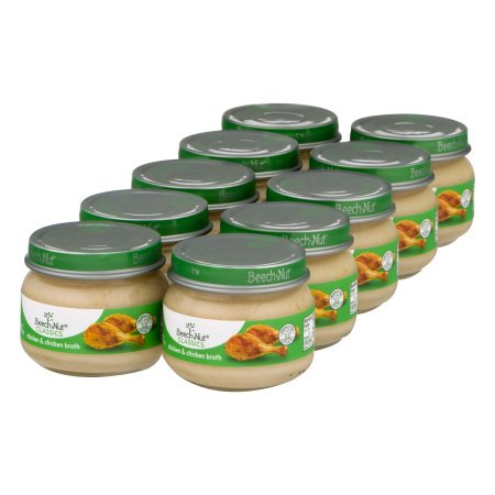 (10 Pack) Beech-Nut Classics Stage 1 Chicken & Chicken Broth Baby Food, 2.5 - Gerber Graduates Chicken