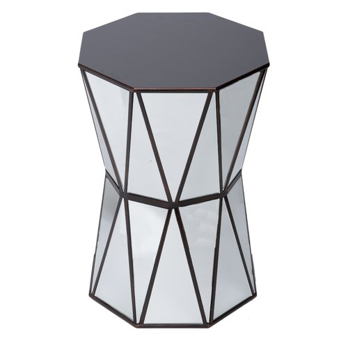Wildon Home  Tricia Mirrored End Table