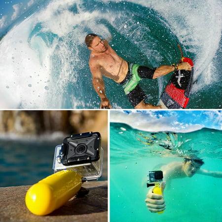 PULUZ Underwater Camera Floating Stick Buoyancy Hand Grip Holder with Adjustable Wrist Strap for GoPro (Best Underwater Gopro Pole)