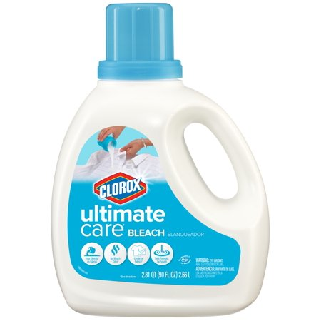 Clorox Ultimate Care Liquid Bleach, Soft Cotton Scent, 90 Ounce Bottle (Non Chlorine Bleach Powder)