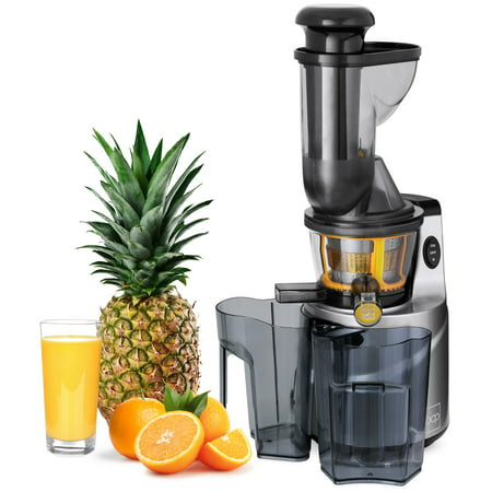 Best Choice Products 150W 60RPM Whole-Food Slow Masticating Cold Press Juicer Extractor for Fruits, Vegetables with 3in Wide Feeder Chute, Juice/Pulp Jug, Drip-Free Cap, Safety Locking, Cleaning Brush ()