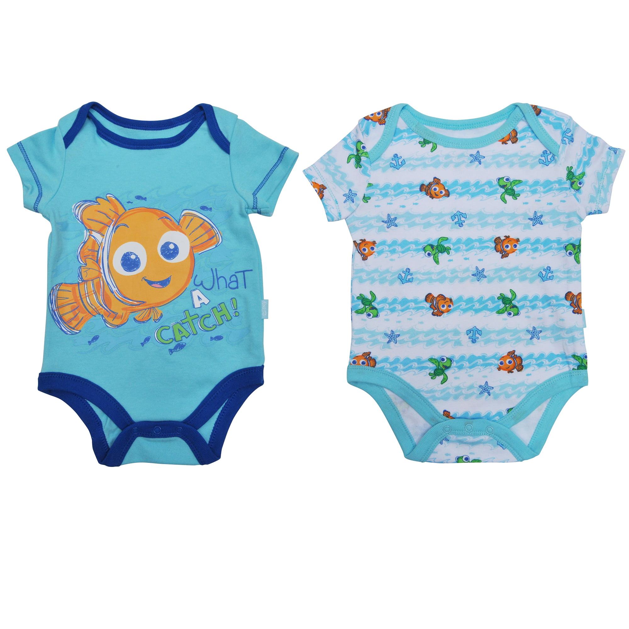 1f9be0494 Disney - Disney Nemo Infant Baby Boys One-Piece Bodysuits 2-Pack ...