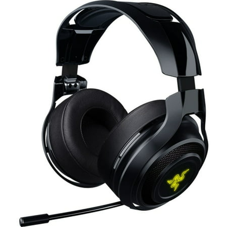Razer Manowar Wireless 7 1 Surround Sound Gaming Headset Compatible With Pc  Mac  Steam Link And Works With Playstation 4