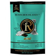 ROSS CHOCOLATES Keto Friendly Sugar Free Chocolate Dark - Sea Salt (Pouch)