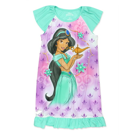 Disney Princess Jasmine Aladdin Movie Girl's Nightgown Dorm Pajamas 21DP403GDT](Princess Jasmine Pajamas)