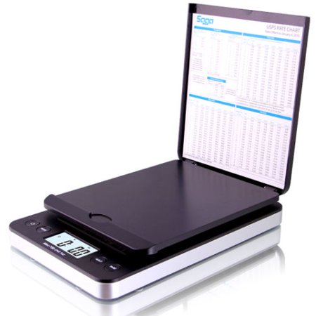 Pro 5th Scale - 86 lb. DIGITAL POSTAL SHIPPING SCALE by SAGA X 0.1 OZ WEIGHT USPS POSTAGE W/AC USB Charger , Pro Model, Black