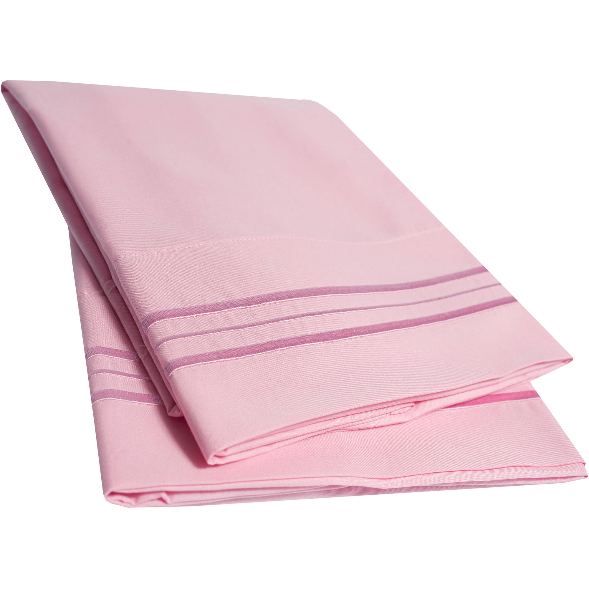 Sweet Home Collection Ultra-Soft 1500 Series Microfiber Embroidered Pillowcase, 2-Pack