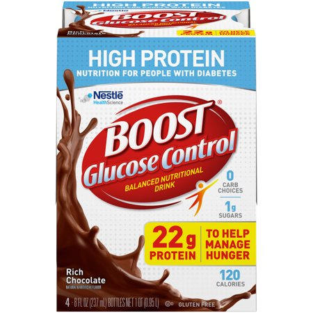 Boost Glucose Control High Protein Nutritional Drink, Rich Chocolate, 8 fl oz Bottles, 16
