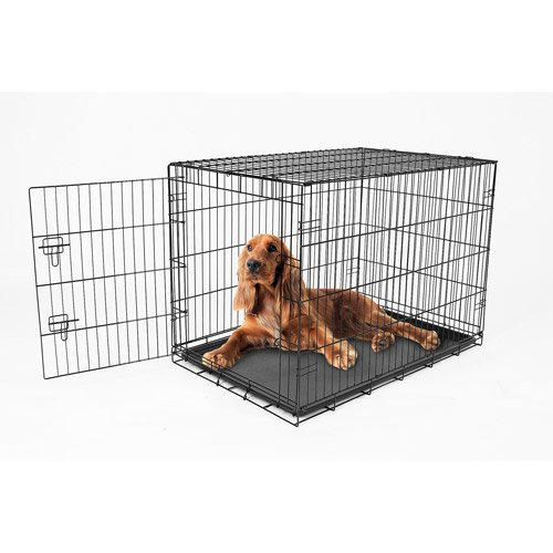 Carlson Pet Products Single Door Wire Pet Crate Black X Large 48 L Walmart Com Walmart Com