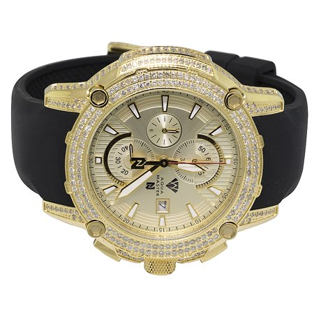 Aqua Master Aqua Master Yellow Gold Steel Nicky Jam Diamond Watch Nj5 5 0 Ct