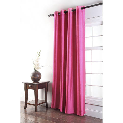 Tribeca Faux Silk Grommet Single Curtain Panel