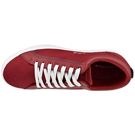 (Lacoste Men's Shoes Lenglen 216 Lace Sneaker 12 M Red)