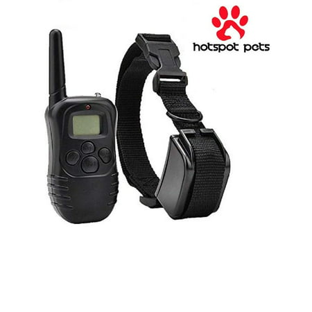 HotSpot Pets Wireless Rechargeable Dog Training Collar W/ 100 Level Tone,  Vibration & Shock
