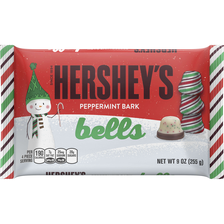 The Hershey Company HERSHEY'S Holiday Peppermint Bark Bells, 9 oz