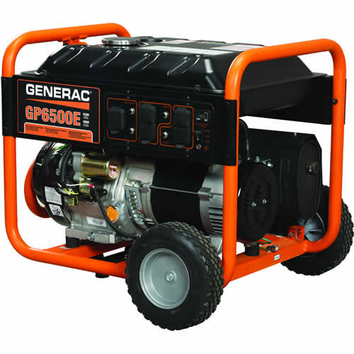 5941 - 6500 Watt Electric Start Portable Generator, 49 State
