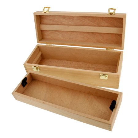 US Art Supply Artist Wood Pen, Marker Storage Box w/ Drawer Medium Tool Box](Michaels Art Supply Store)