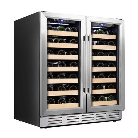 Kalamera 66 Bottle Dual Zone Built In And Freestanding Wine Cooler