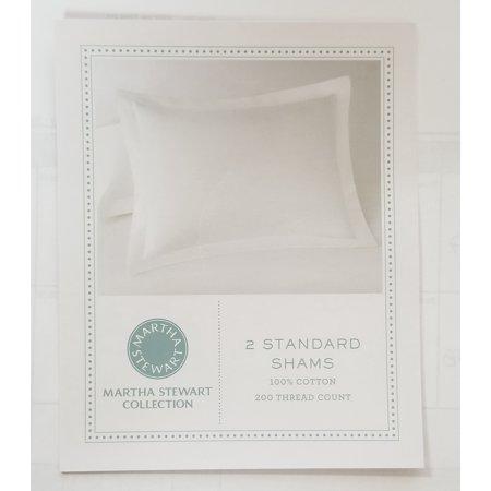 Martha Stewart Essentials 200 Thread Count Shams Taupe 2 Standard