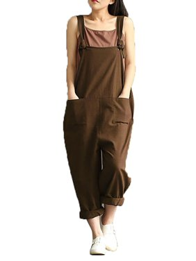 1e6a6912496 Product Image Womens Casual Loose Straps No Button Jumpsuit Dungaree  Trousers Overalls