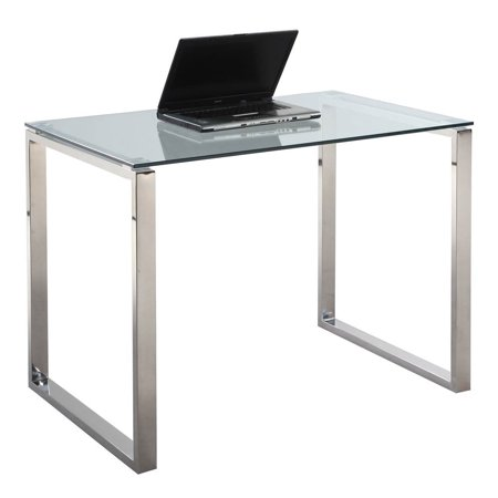 Computer desk glass top - Computer table in walmart ...