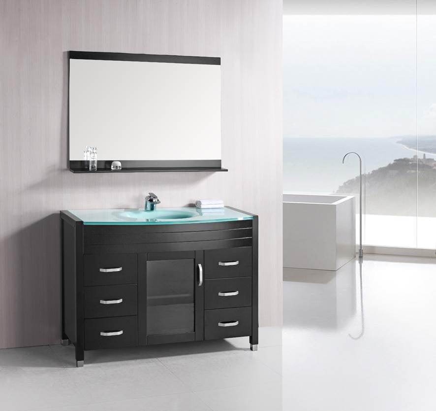 48 Inch Bathroom Vanities With Glass Top