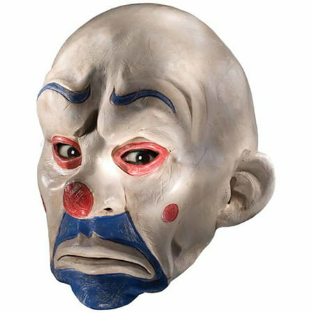 Vintage Clown Mask (Batman Dark Knight Joker Clown Mask Adult Halloween)