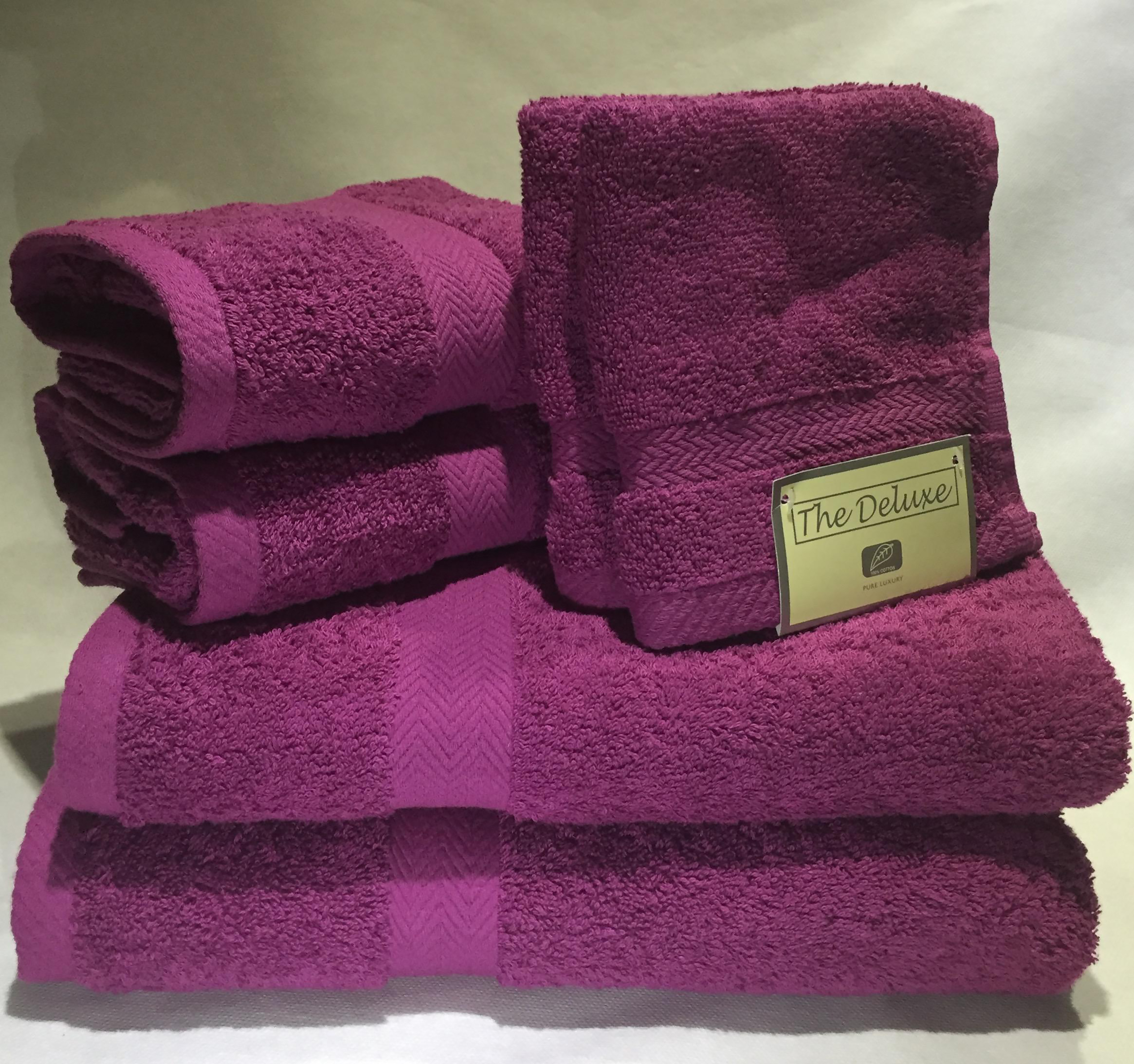 Deluxe Basics 6-Piece Solid Luxury Towel Set by Lintex