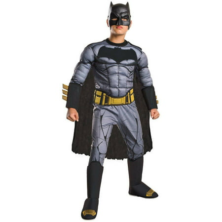 Batman Vs Superman: Dawn of Justice Deluxe Batman Child Halloween Costume](Kids Batman Costume)