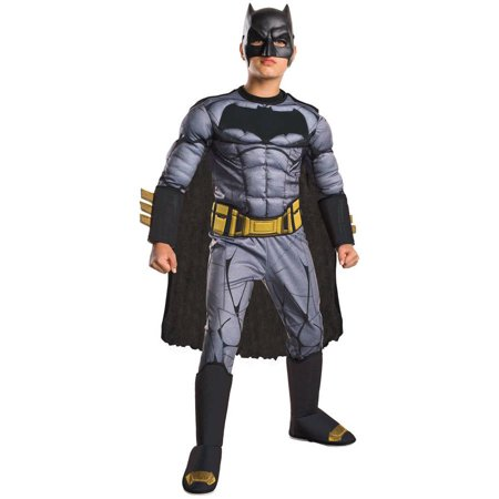 Batman Vs Superman: Dawn of Justice Deluxe Batman Child Halloween Costume](Diy Batman Costume Kids)