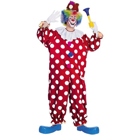 Dotted Clown Adult Costume - Clown Jumpsuit Costume
