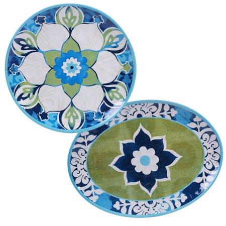Freeport Park Melamine Platter Set  Set Of 2