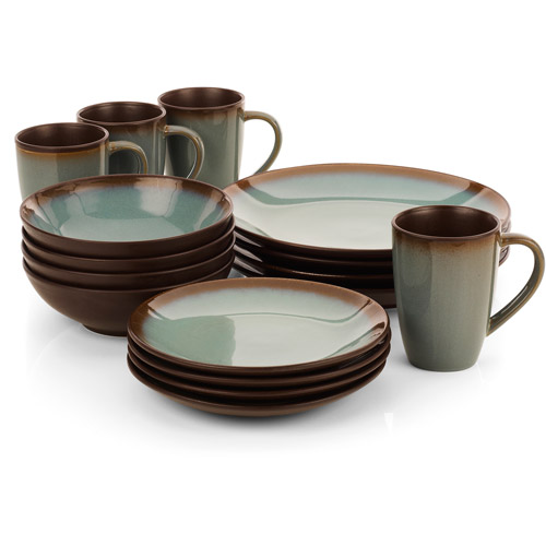 Hometrends Lagoon 16 Piece Dinnerware Set Walmart Com