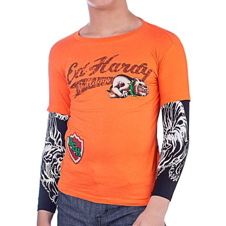 Ed Hardy Kids Long Sleeve Bulldog T-Shirt