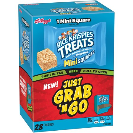 Kellogg's Rice Krispies Treats Crispy Marshmallow Mini Squares 28 Ct