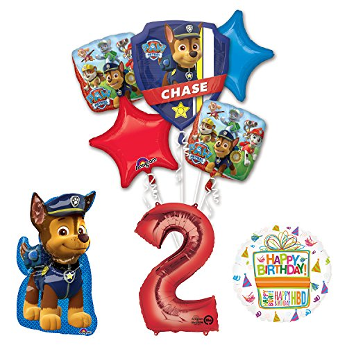The Ultimate Paw Patrol 2nd Birthday Party Supplies and Balloon Decorations
