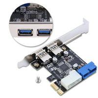 LYUMO PCI-E To USB3.0 Expansion Card, PCI-E To USB3.0 Expansion,PCI-E To USB3.0 Expansion Card Adapter With Front 19PIN Interface