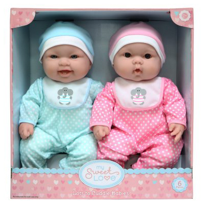 Lots To Cuddle Babies, Twin Dolls by Generic