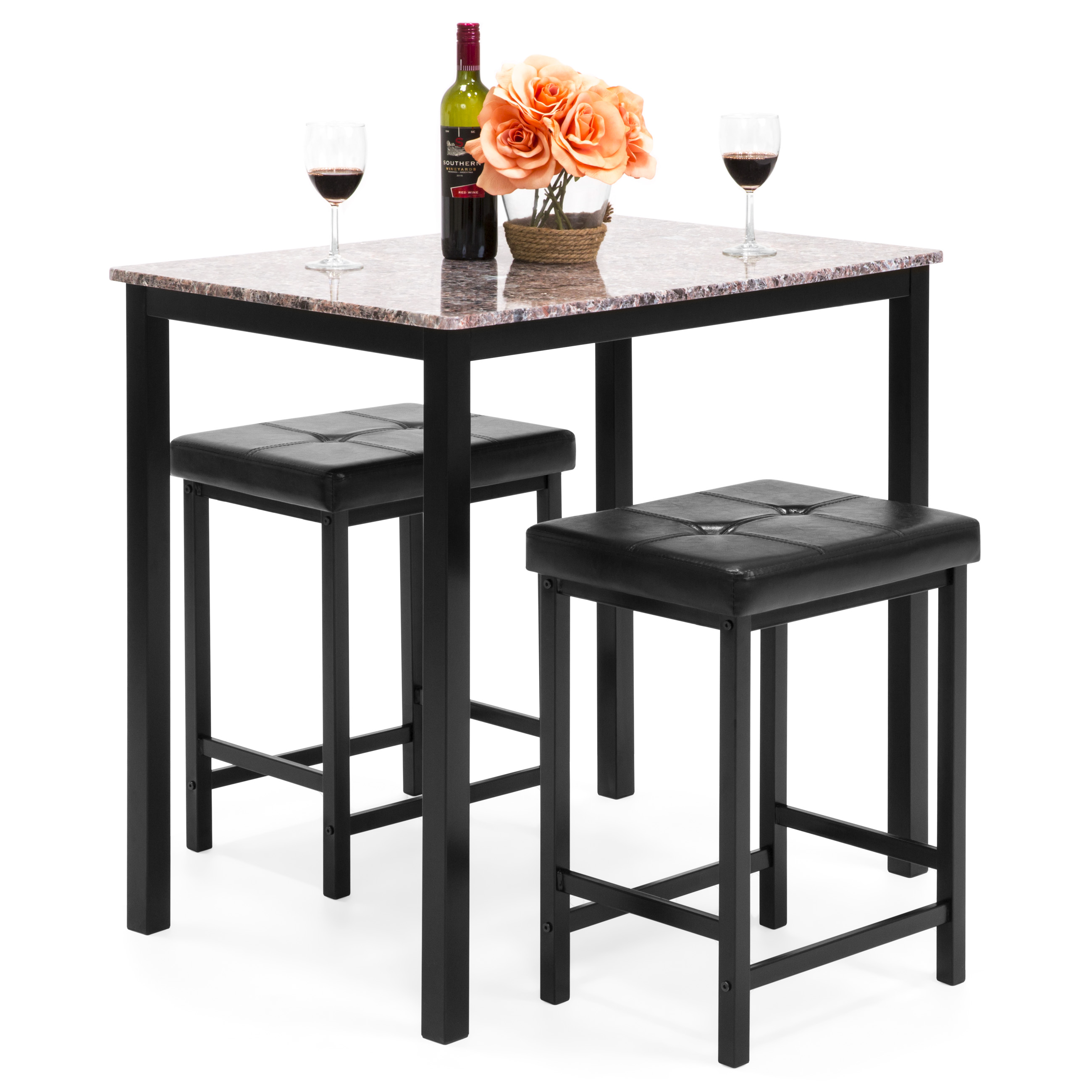 3 Piece Dining Set Walmart Com