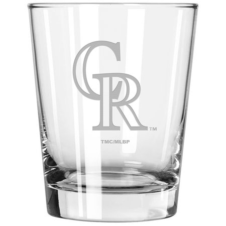 Colorado Rockies 15oz. Etched Double Old Fashioned Glass - No Size