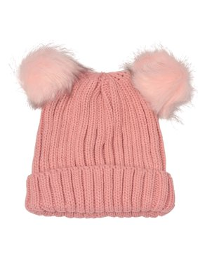 aa933b7fd0d Product Image Angela   William Juniors Pink Faux Fur Pom-Pom Embellished  Bear Winter Hat