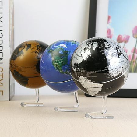 4 Inch Diameter Electric Rotating Globe Automatic 360 Degree Rotation Desktop World Map Home Room - World Globe Decorations