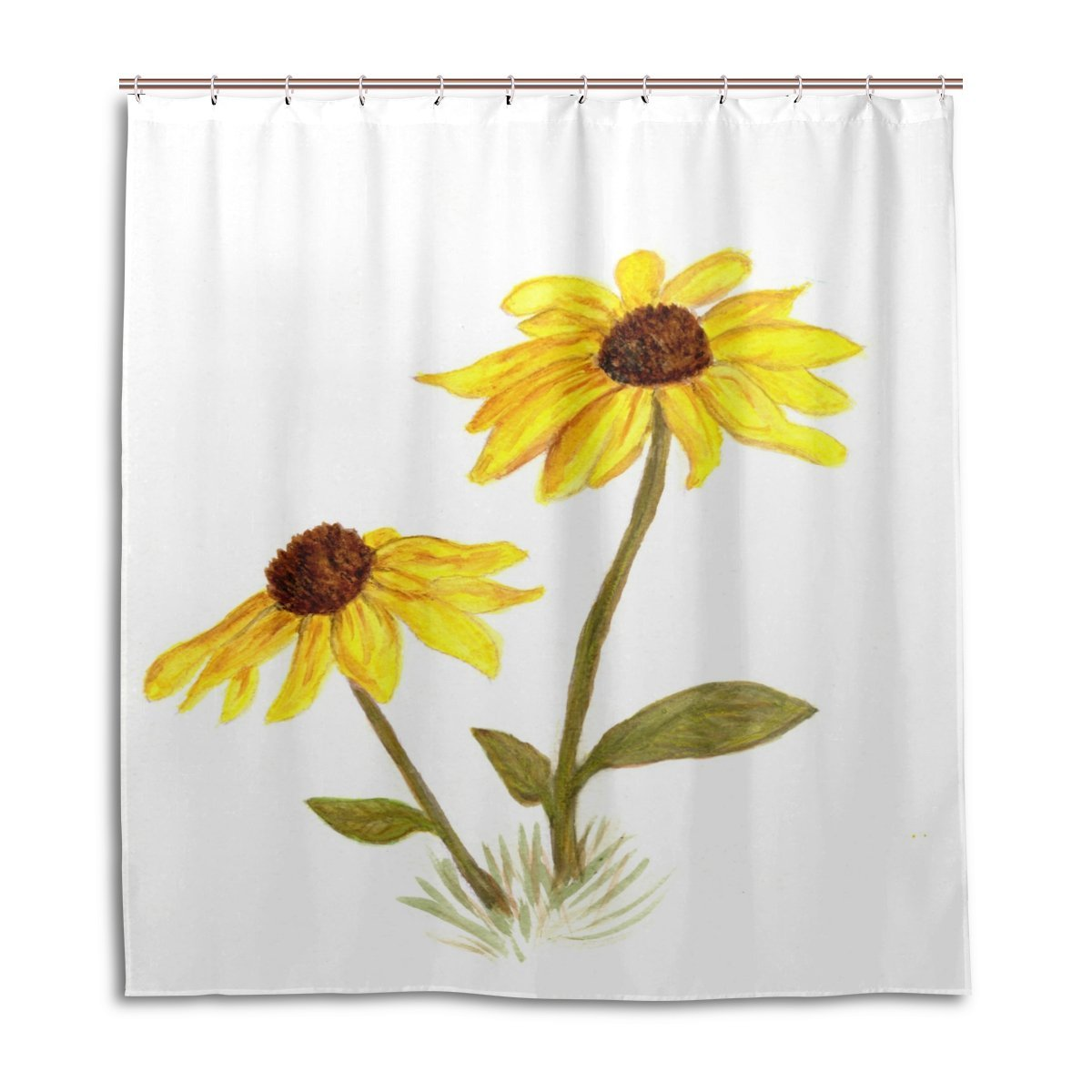 POPCreation Chrysanthemum Shower Curtain Waterproof Bathroom Shower Curtain 60x72 inches