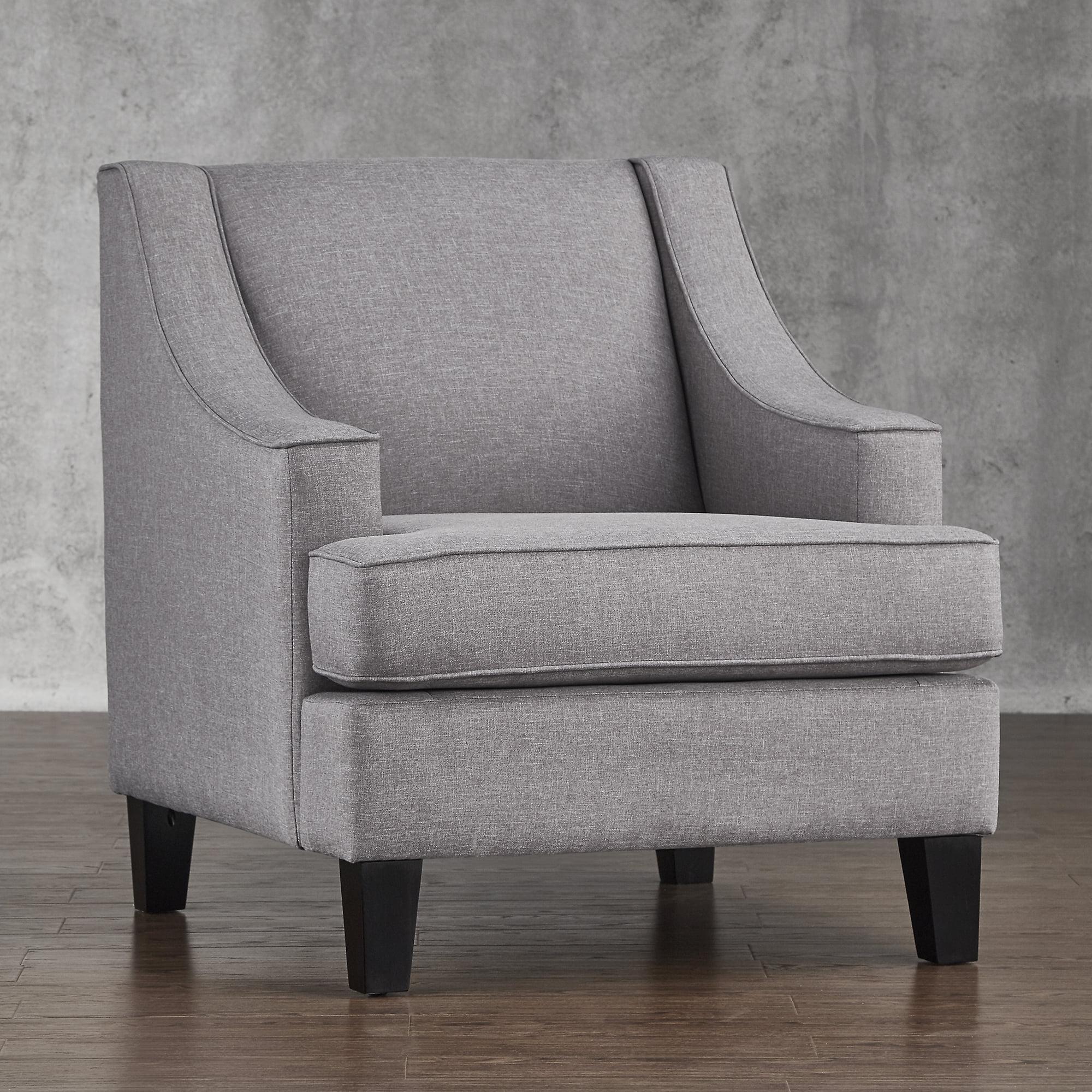 Chelsea Lane Armchair, Gray Linen by Top-Line